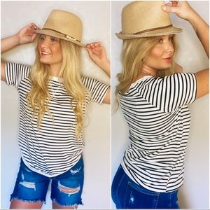 KEEP YOUR STYLE STRIPED TOP-NAVY/WHITE